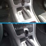 Die Schaltung eines Fahrzeuges vor und nach der Reinigung