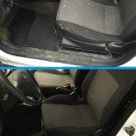 Fahrersitz vor und nach der Reinigung