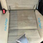 Autositz vor und nach der Reinigung
